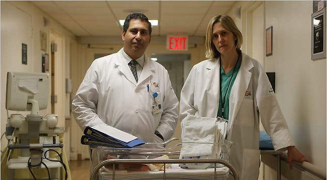 Dr. George Mussalli, left, and Dr. Jaqueline Worth at St. Vincent's Hospital.