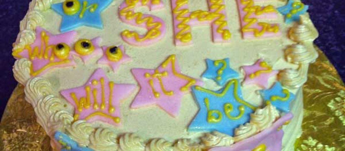 village-obstetrics-gender-reveal-cake